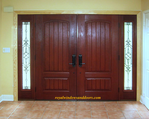 double entry door system fiberglass with wrought iron royal entry door systems front