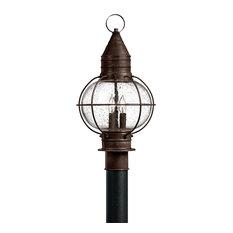Hinkley Cape Cod Outdoor Medium Post Or Pier Mount Lantern, Sienna Bronze