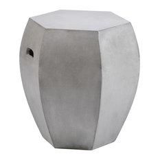 "Turin 18"" Tall Hexagon Concrete Stool"