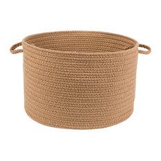 """Rhody Rug Wear Ever Camel Poly 18""""X12"""" Basket"""
