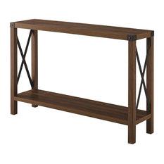 46-inch Rustic Farmhouse Entryway Table - Dark Walnut
