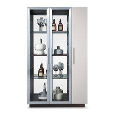 Vera Curio With Bar Cabinet Door
