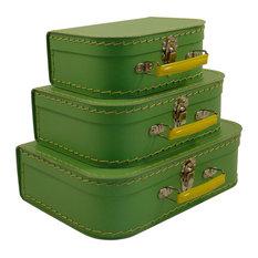 Cargo Traveler Mini Suitcases, Set of 3, Soft Green