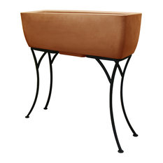 """Rats Companies Urban Planter 30""""x10"""" With Stand, Terra Cotta"""