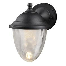 Black Outdoor Patio Exterior LED Light Fixture, 21-3592-Medium