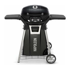 TravelQ Pro Portable Gas Grill With Cart and Side Shelf Kit