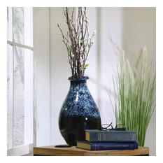 """Sagebrook Home Ceramic Vase 13.5"""", Multi/Blue"""