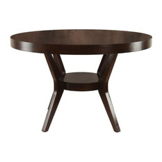Bowery Hill Round Dining Table In Espresso