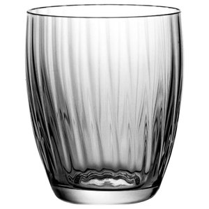 Fluted Lead Crystal Tumblers, Set of 6