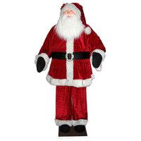 Huge 6' Life-Size Decorative Plush Santa Claus, Sitting or Standing