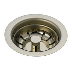 "Delta Basket Strainer for 3-1/2"" Kitchen Sink Drains, Brilliance Polished Nickel"