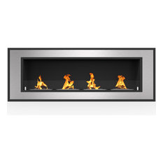 """Cynergy 60"""" Ventless Built In Recessed Bio Ethanol Wall Mounted Fireplace"""