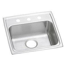 Elkay Lustertone Classic Stainless Steel 1-Bowl Drop-in ADA Sink, Lustrous Satin