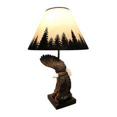 Soaring Bald Eagle Sculptural Table Lamp