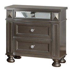 Cosmos Furniture Sydney Contemporary Style Nightstand in Coffee finish Wood by Cosmos Furniture