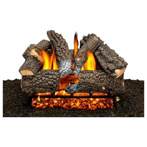 18 Aspen Whisper Logs Single Burner And Variable Flame Remote Liquid Propane Rustic Indoor Fireplaces By Shop Chimney Houzz