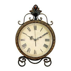 "GwG Outlet - Metal Clock, 17""x11"" - Desk and Mantel Clocks"
