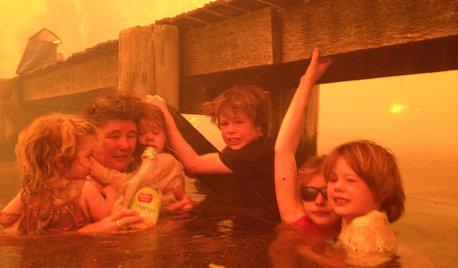 Así es la nueva vida de una familia australiana tras un pavoroso fuego