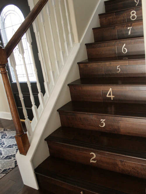 Elegant Wooden Wood Railing Staircase Photo In Other