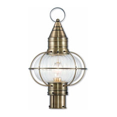 Newburyport 1-Light Post Lantern, Antique Brass
