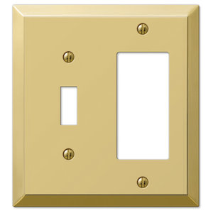 Century Polished Steel 2 Toggle 1 Rocker Wall Plate Transitional Switch Plates And Outlet Covers By Amertac