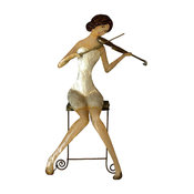 Seated Violinist Wall Decor