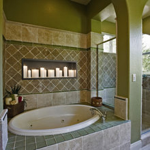Add a fireplace to your bathroom.