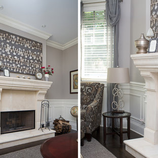 Mid-sized transitional home design photo in Chicago