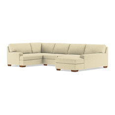 Bradbury 3-Piece Sectional Sofa Bisque Chaise On Right