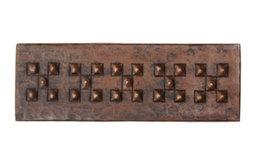 "2"" X 6"" Check Design Hand Hammered Copper Tile (TL003)"
