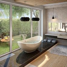 Конвекторы в интерьере ванных комнат и бассейнов