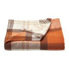 Lavish Home Faux Cashmere Acrylic Throw Blanket,, Spice