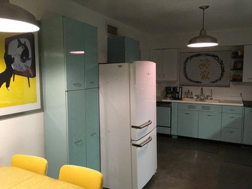 Refrigerator Sticks Out To Far Past Vintage Metal Geneva Pantries