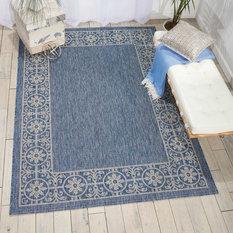 Residence Merida Indoor Outdoor Rug Blue 5 3 X7