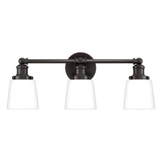"""Kinley 3 Light 23"""" Wide Bathroom Vanity Light With Opal Etched Glass"""