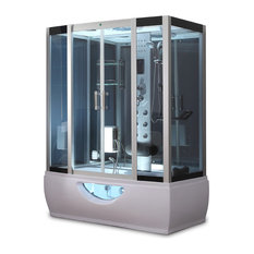 1001Now GT0531 Rectangle Steam Shower Enclosure And Whirlpool Tub