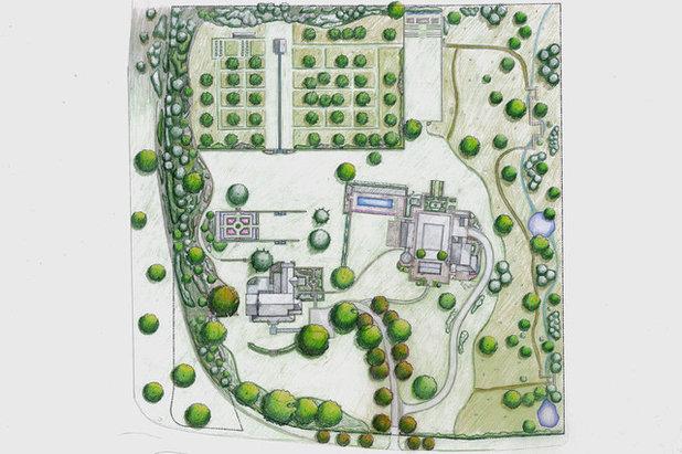 Farmhouse Site And Landscape Plan by Devore Associates