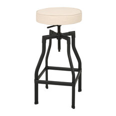 GDF Studio Marina Adjustable Fabric Barstool