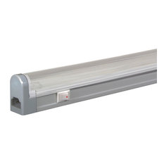 Jesco Lighting Group 12w Fluorescent Undercabinet Fixture With Rocker Switch4100k Silver