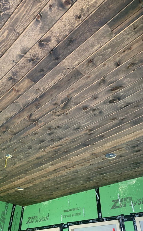Can I Leave My Pine Porch Ceiling Stained And Not Sealed