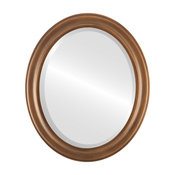 Messina Framed Oval Mirror, Sunset Gold, 15x19