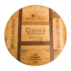 "24"" Wine Crate Lazy Susan Featuring Napa's Finest"