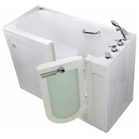Lounger Acrylic Hydro Massage, Microbubble and Heated Seat Walk-In Bathtub with