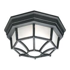 Thomas Lighting SL745 Craftsman / Mission Outdoor Ceiling Fixture - Black