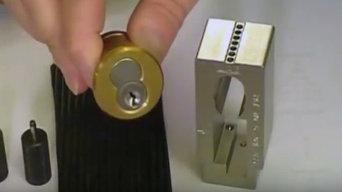 Re key an interchangeable core lock cylinder