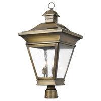 Elk Lighting Outdoor Post Lantern Reynolds Collection in Solid Brass