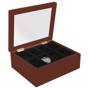 EMDE Wooden Watch Case, Stained Wood