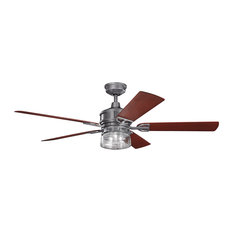"Kichler 60"" Lyndon Patio Fan, Weathered Steel Powder Coat"