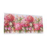 Vibrant Pink Floral Wall Mounted Canvas Print
