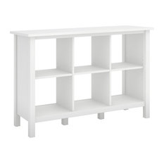 Broadview 6 Cube Storage Bookcase, Pure White
